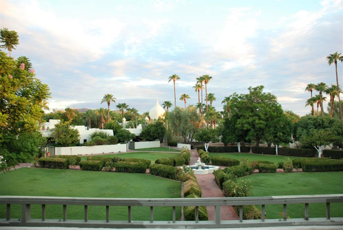 View of the Rose Garden at Casa Blanca from unit #12 Balcony