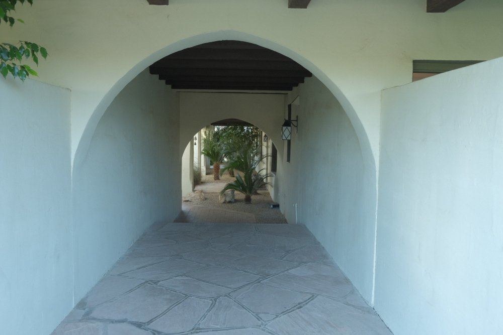 Arched Entrance to the Rose Garden at the community of Casa Blanca located in Paradise Valley, Arizona