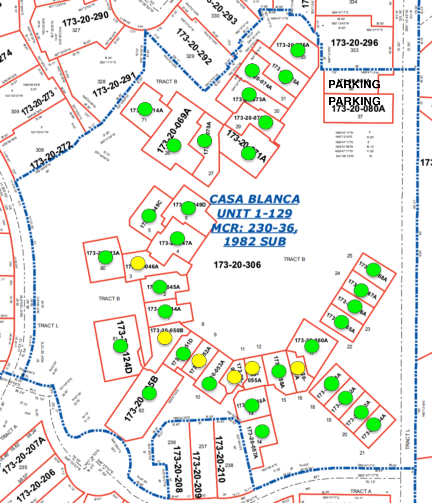 Image Showing Homes with Courtyards in Phase 1 of Casa Blanca